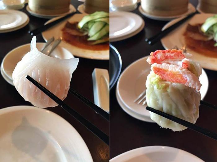 海老餃子とカニシュウマイ